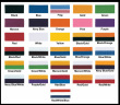 Ribbon Colors for Medals