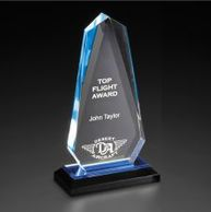 Impress Reflection Faceted Arrowhead Acrylic Award