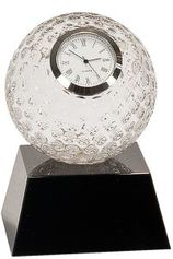 Golf Ball With Clock on Black Base - CRY6101L