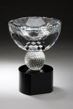 Golf Crystal Bowl Trophies - CRY302