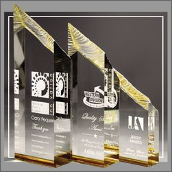 Gold Glacier Tower Acrylic Awards